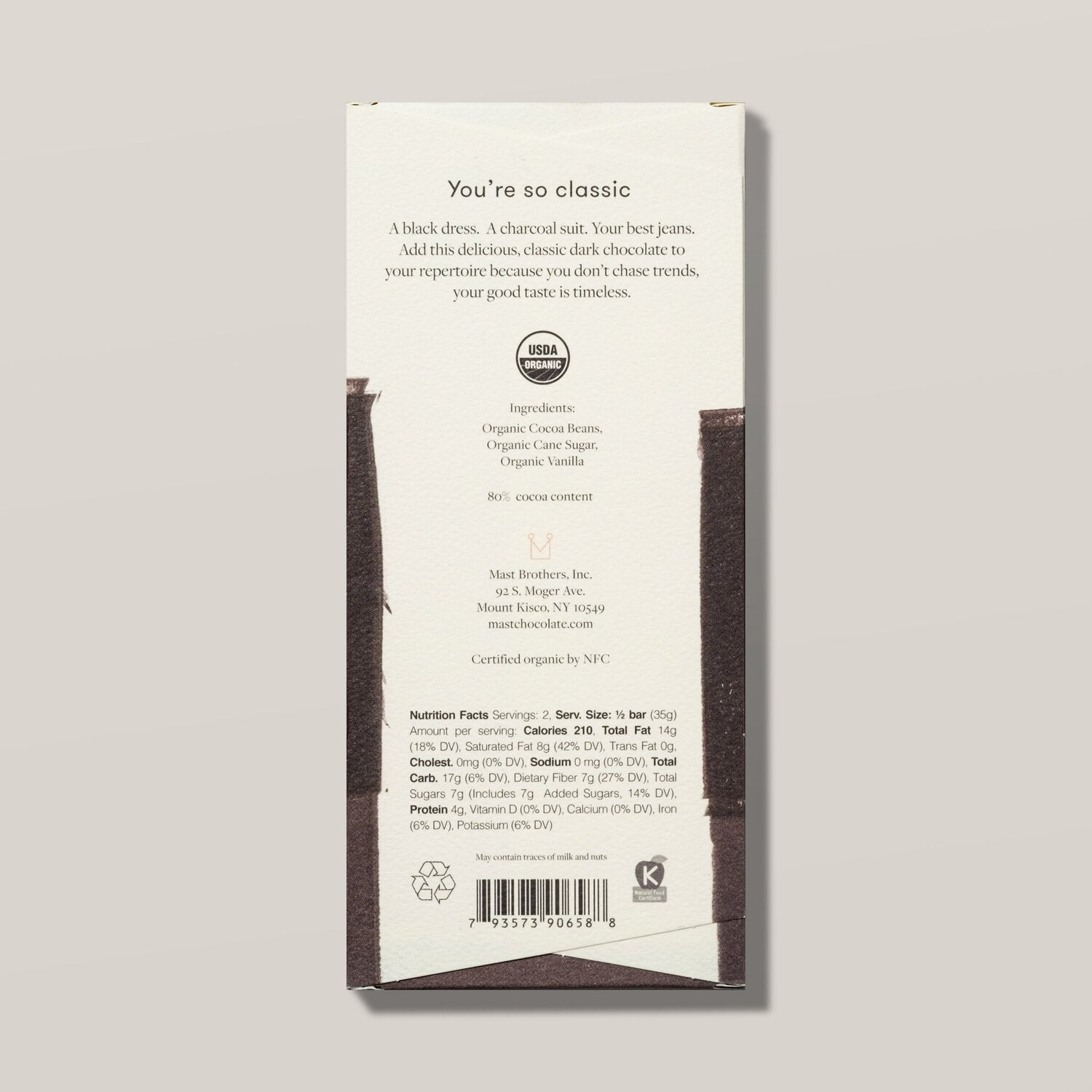 MAST - DARK CHOCOLATE - CLASSIC (70G/2.5OZ)