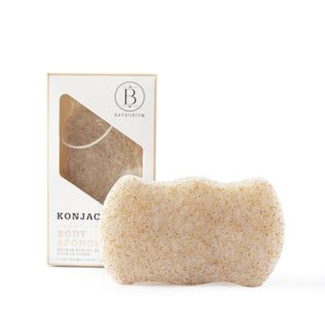 BATHORIUM - KONJAC WALNUT SHELL EXFOLIATING BODY SPONGE