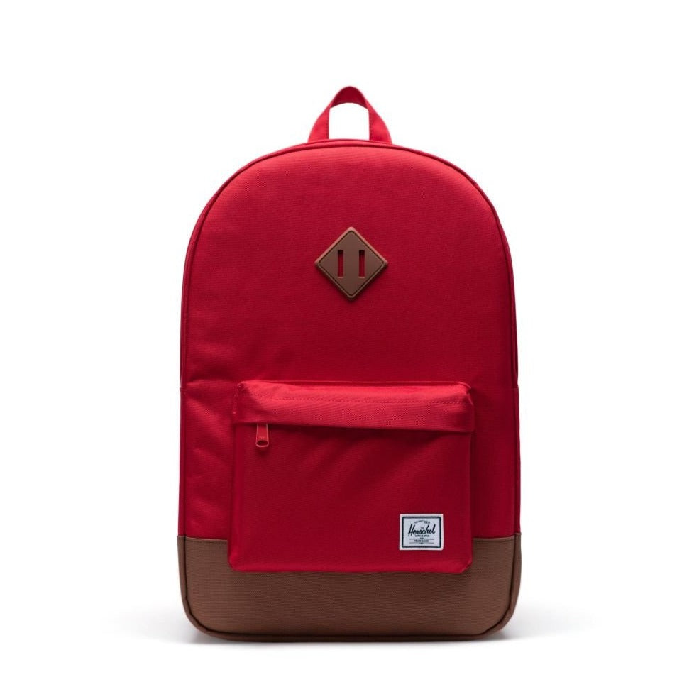 HERSCHEL - HERITAGE BACKPACK IN RED/SADDLE BROWN