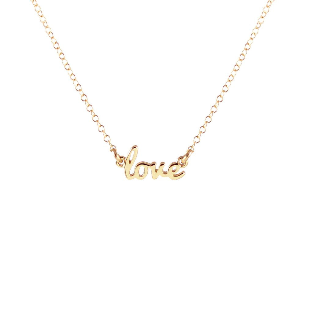 KRIS NATIONS - LOVE CHARM NECKLACE IN GOLD