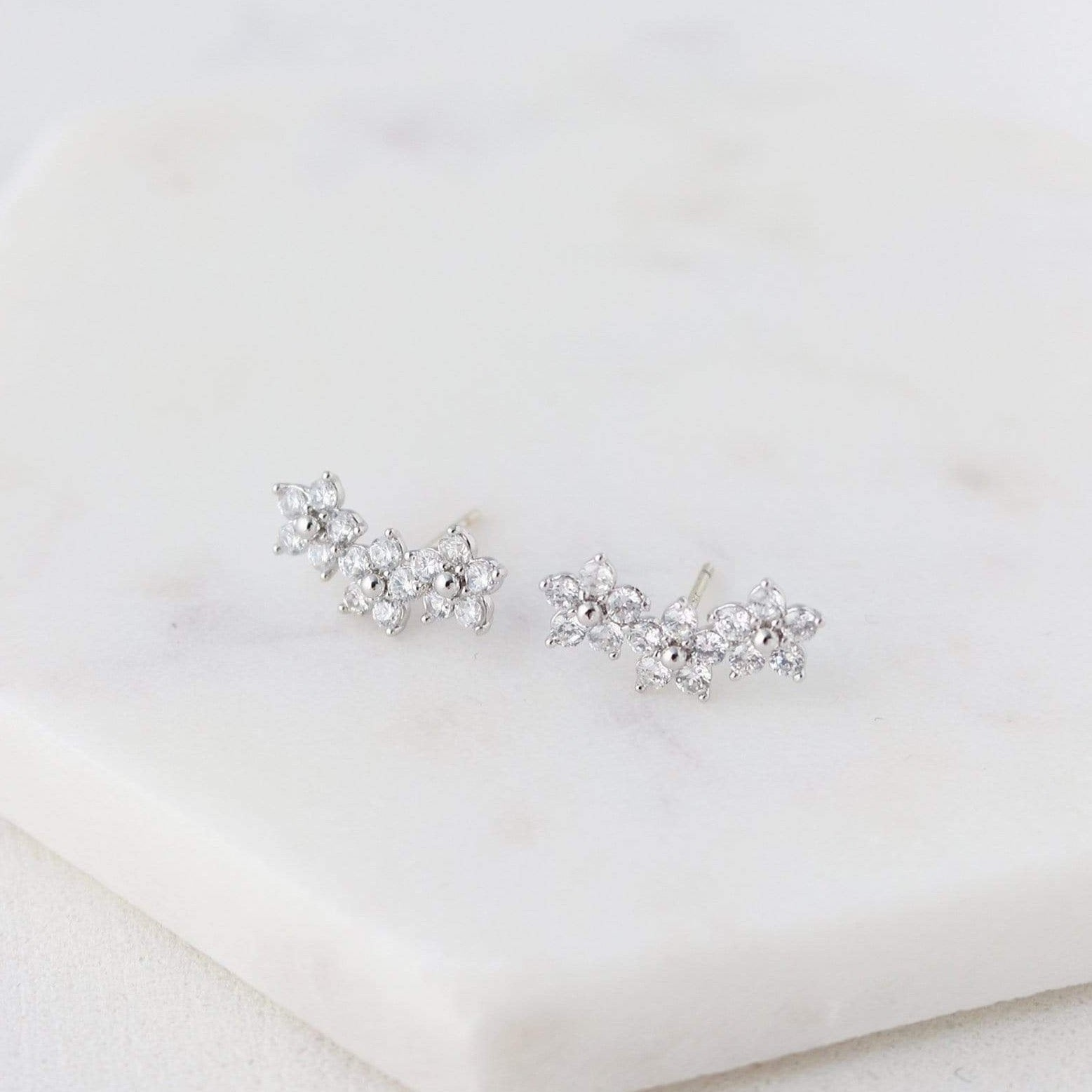 LOVER'S TEMPO - BLOSSOM CLIMBER EARRINGS IN SILVER