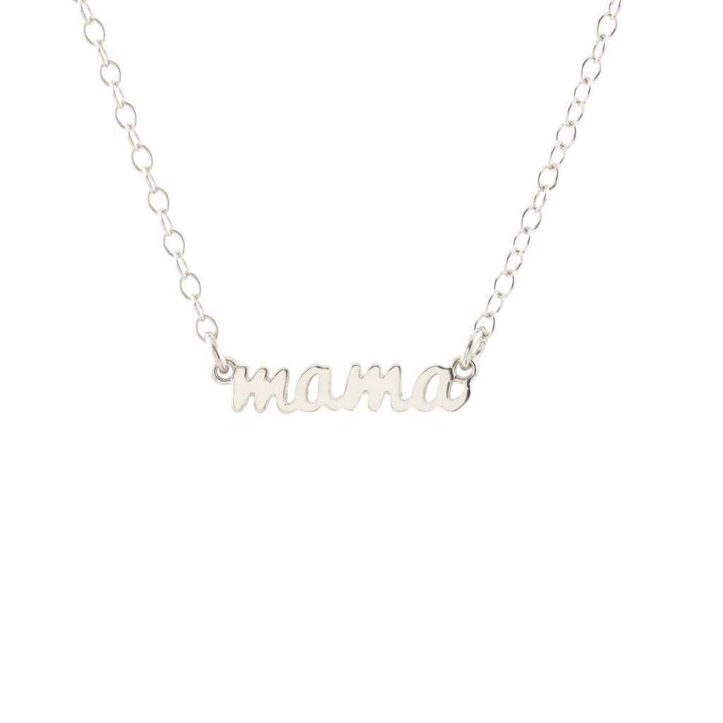 KRIS NATIONS - MAMA CHARM NECKLACE IN SILVER