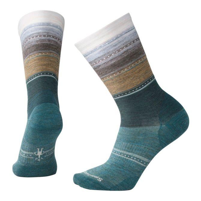 SMARTWOOL - SULAWESI STRIPE IN MEDITERRANEAN GREEN HEATHER