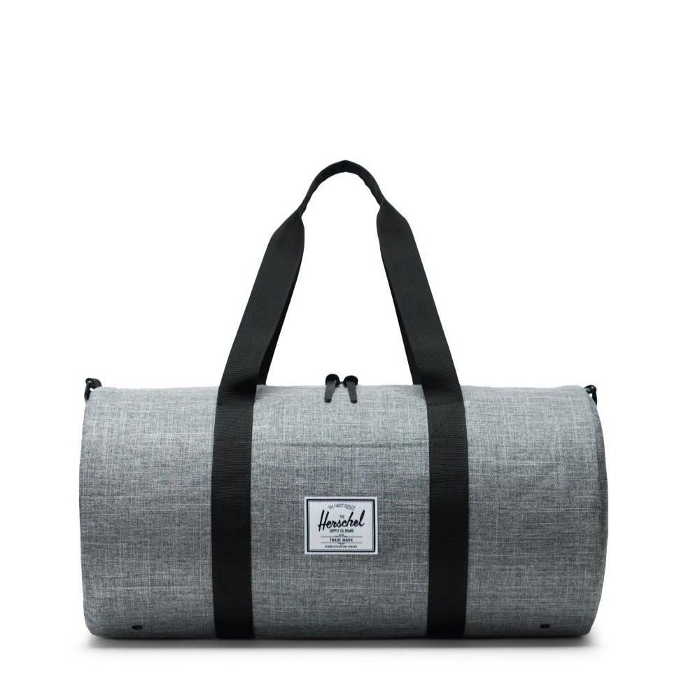 HERSCHEL - SUTTON DUFFLE MID-VOLUME IN RAVEN CROSSHATCH/BLACK