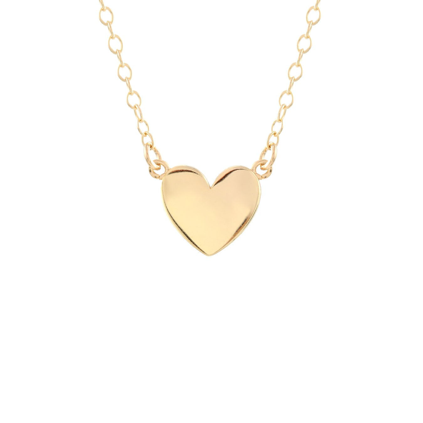 KRIS NATIONS - SOLID HEART CHARM NECKLACE IN 18K GOLD