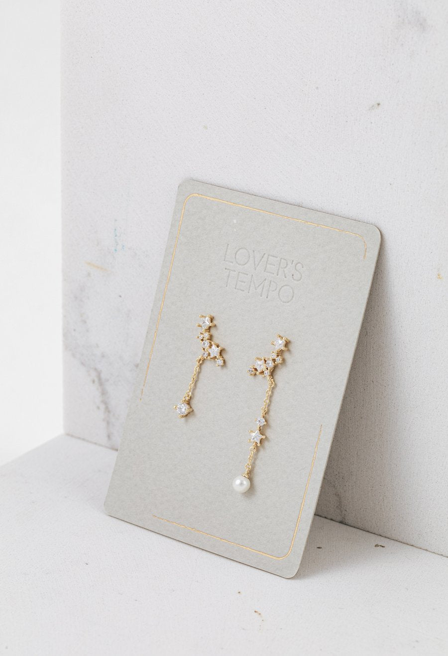 LOVER'S TEMPO - GALAXY CLIMBER EARRINGS IN GOLD/OPAL