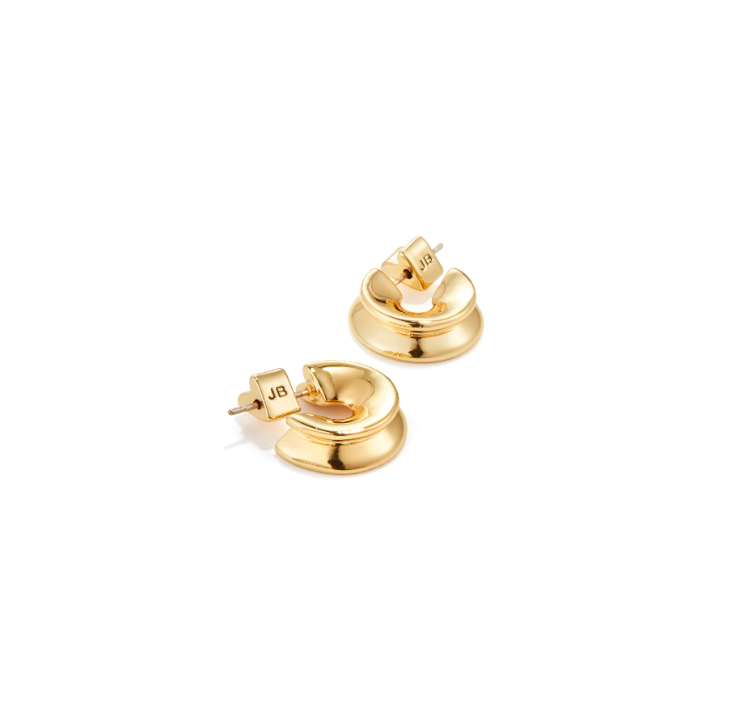 JENNY BIRD - HIDDEN HEART HOOPS SMALL IN GOLD