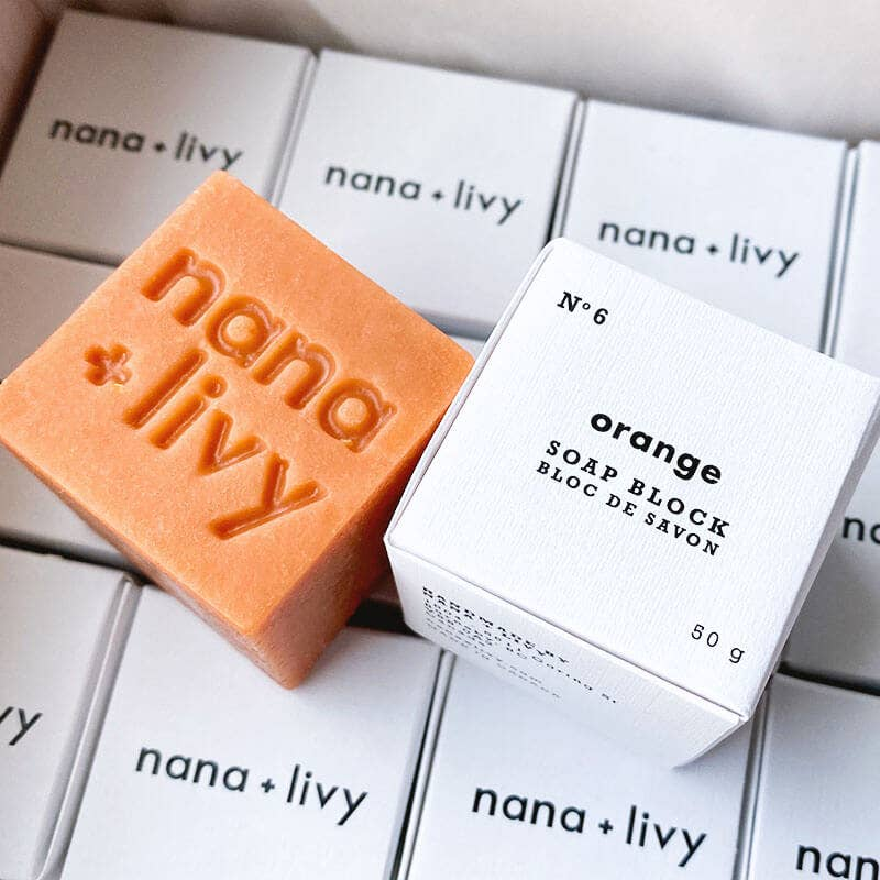 NANA + LIVY - NO 6 ORANGE SOAP BLOCK