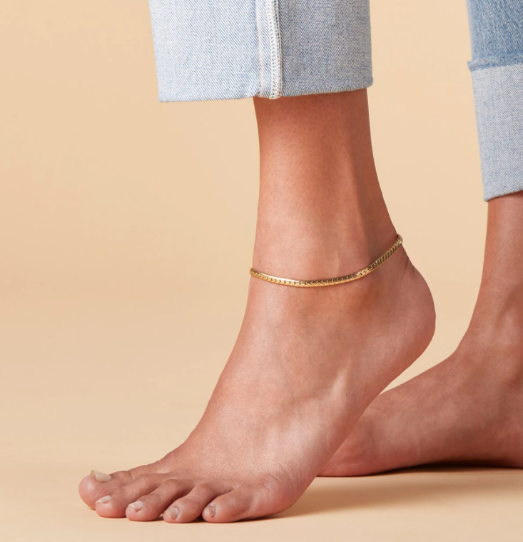 JENNY BIRD - PRIYA SNAKE CHAIN ANKLET IN GOLD