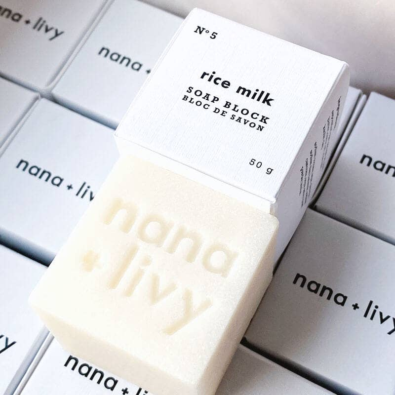 NANA + LIVY - NO 5 RICE MILK SOAP BLOCK