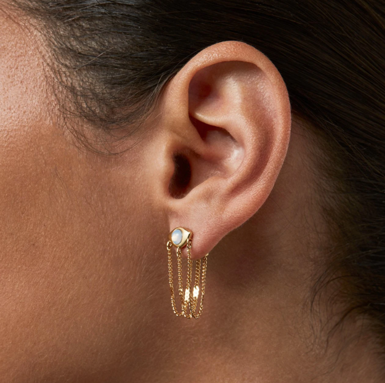 JENNY BIRD - VEAUX DRAPE EARRINGS IN GOLD