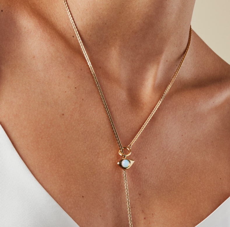 JENNY BIRD - VEAUX WRAP NECKLACE IN GOLD