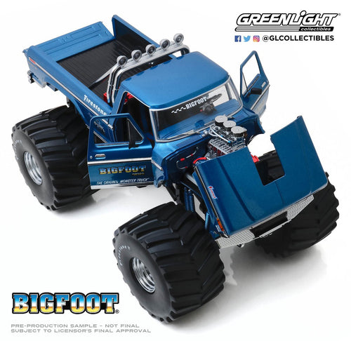 "NOT A TOY - 1:18 Scale BIGFOOT #1 w/ 66"" Tires Greenlight Collectibles"