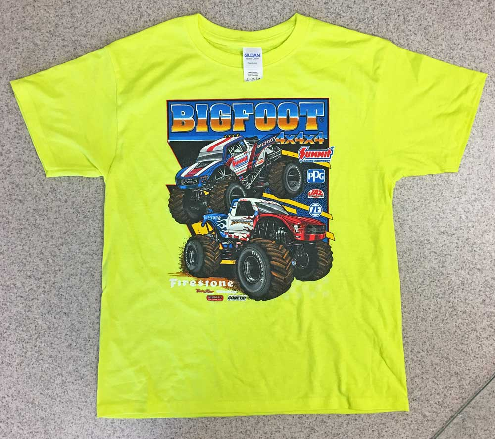 CLEARANCE - 2019 Kids 2-Truck T-Shirt ft. Firestone & Summit BIGFOOT