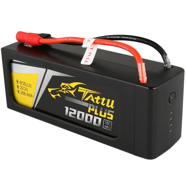 Tattu Plus 12,000mAh 22.2V 15C 6S1P Lipo Smart Battery