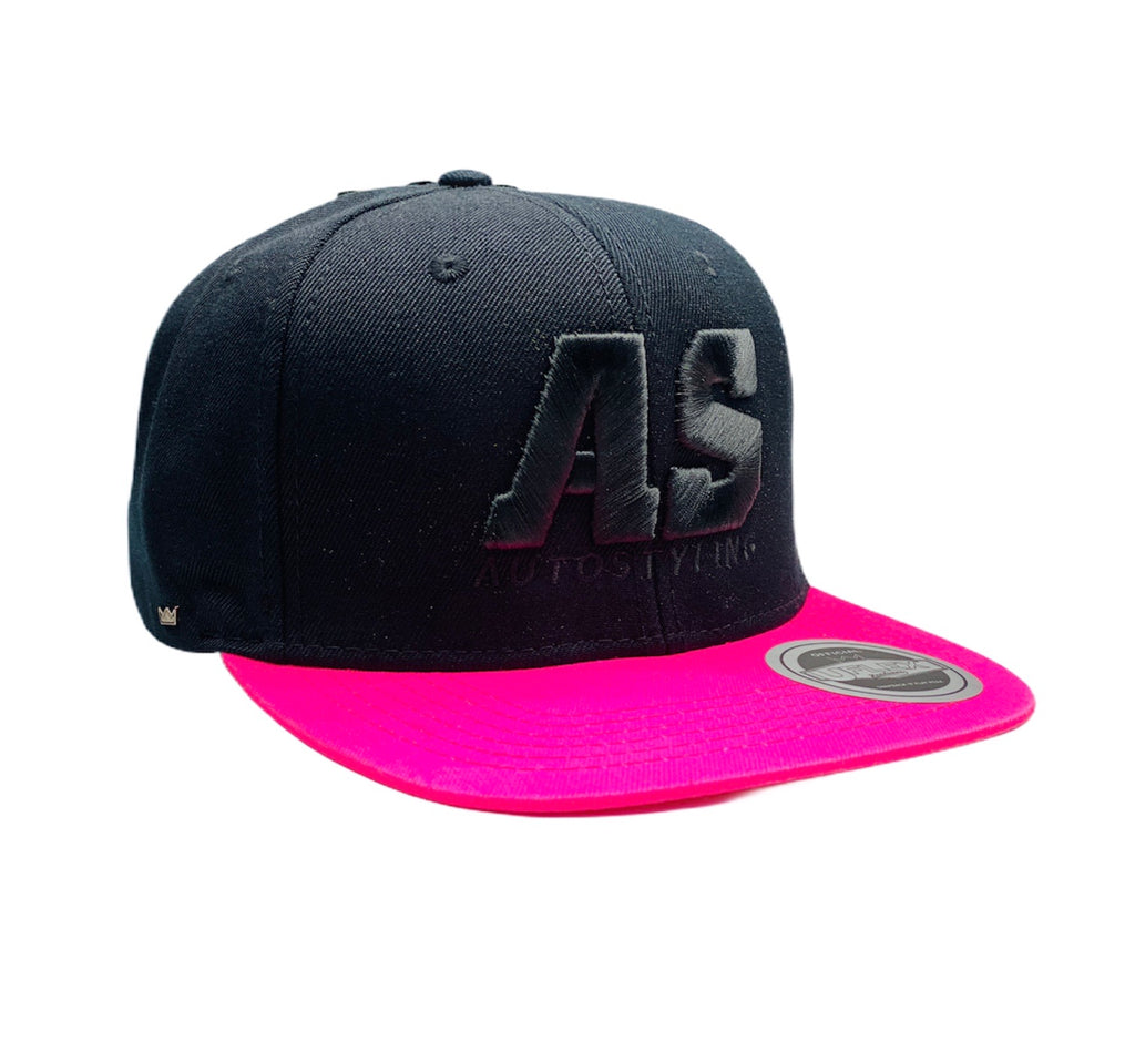 AUTOSTYLING SNAPBACK CAP BLACK AND PINK