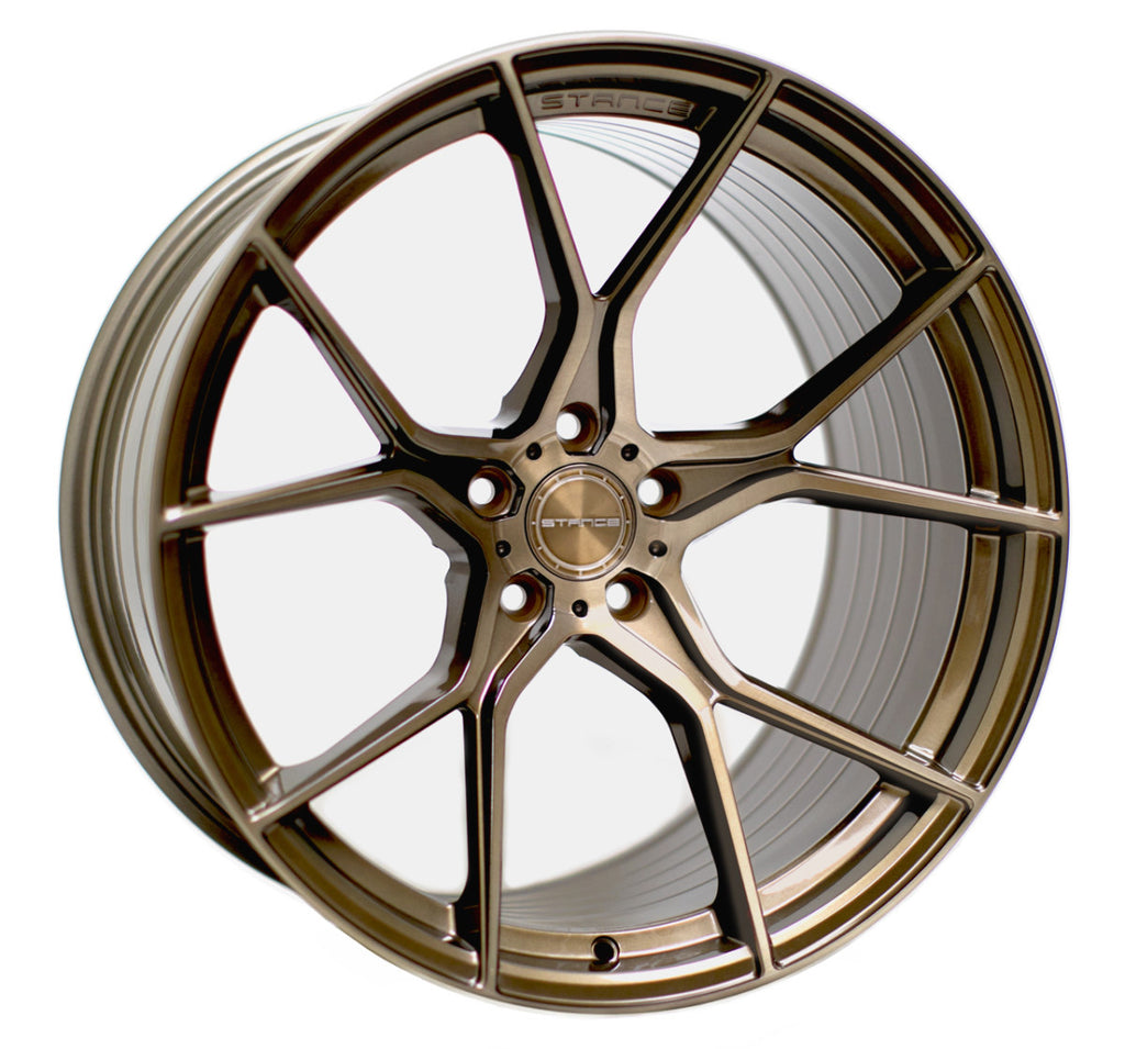 "20"" STANCE SFO7 BRUSH BRONZE MUSTANG"