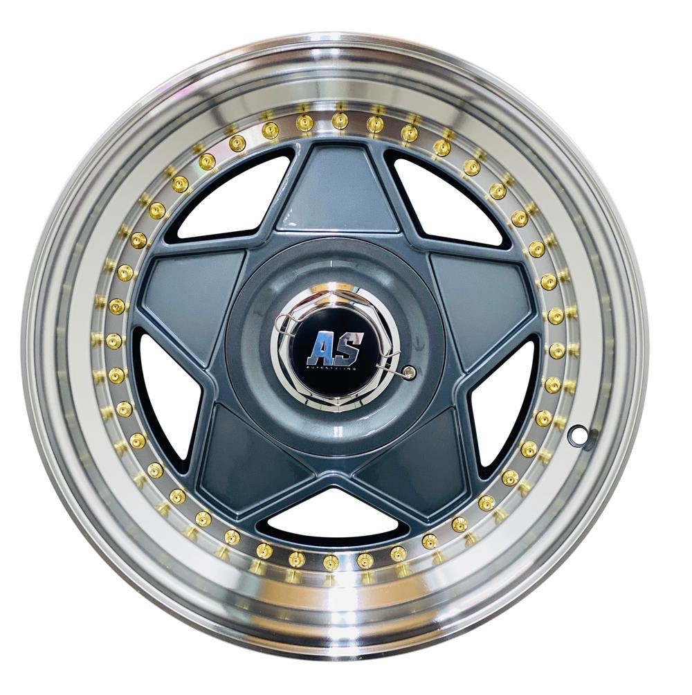 "15"" AS- MODENA GREY WITH GOLD STUDS"