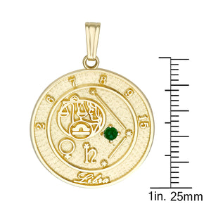 LIBRA 10K Gold Pendant (September 24 - October 23)