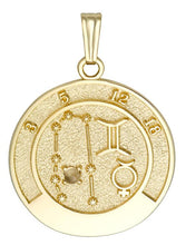 GEMINI 14K Gold Pendant (May 22 - June 21)