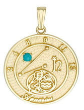 AQUARIUS 10K Gold Pendant (January 21 - February 19)