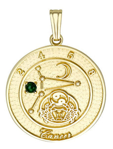CANCER 10K Gold Pendant (June 22 - July 23)