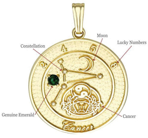 CANCER 14K Gold Pendant (June 22 - July 23)