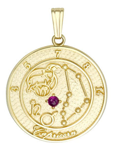 CAPRICORN 10K Gold Pendant (December 22 -  January 20)
