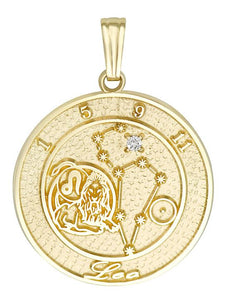 LEO 14K Gold Pendant (July 24 - August 23)