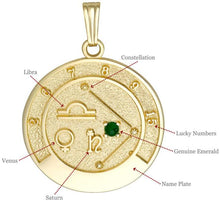 LIBRA 14K Gold Pendant (September 24 - October 23)