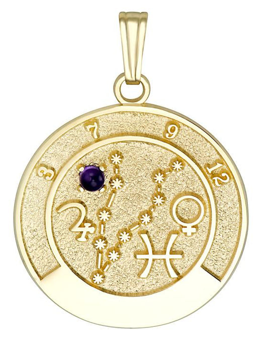 PISCES 14K Gold Pendant (February 20 - March 20)