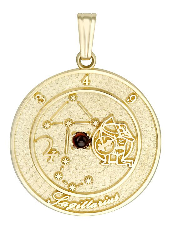 SAGITTARIUS 14K Gold Pendant (November 23 - December 21)