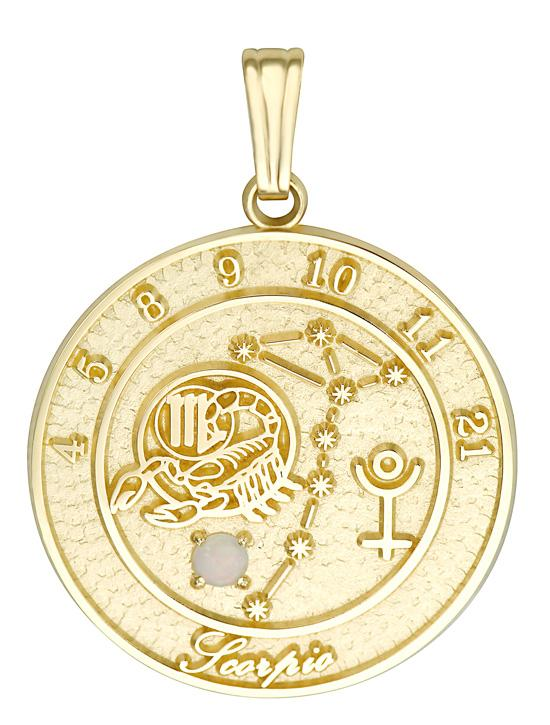 SCORPIO 14K Gold Pendant (October 24 - November 22)