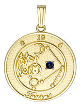 TAURUS 10K Gold Pendant (April 21 - May 21)