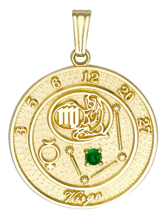 VIRGO 14K Gold Pendant (August 24 - September 23)