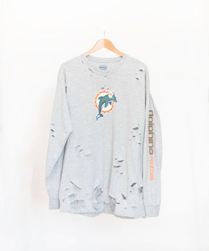 size 40 12853 b6c29 Vintage Miami Dolphins Long Sleeve