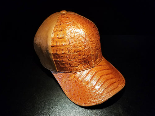 Caiman and Ostrich Baseball Hat