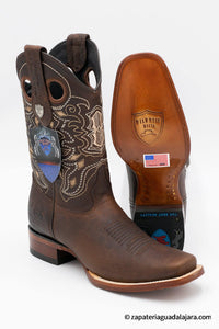 WW-28189940 RODEO SQUARE TOE RAGE WALNUT