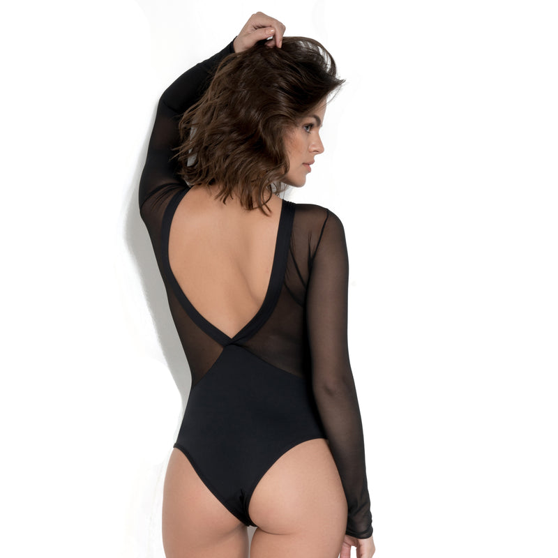 Mesh Long Sleeve Bodysuit-Brazilian-Bodysuit-VOLP