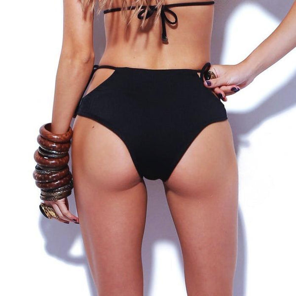 SOLAR High Waist Bikini Bottom-Brazilian-Swimwear-VOLP