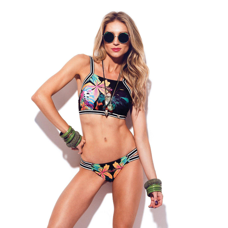 HIBISCUS High Neck Bikini Top-Brazilian-Swimwear-VOLP