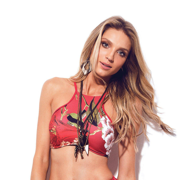 ROUGE BAY High Neck Bikini Top-Brazilian-Swimwear-VOLP