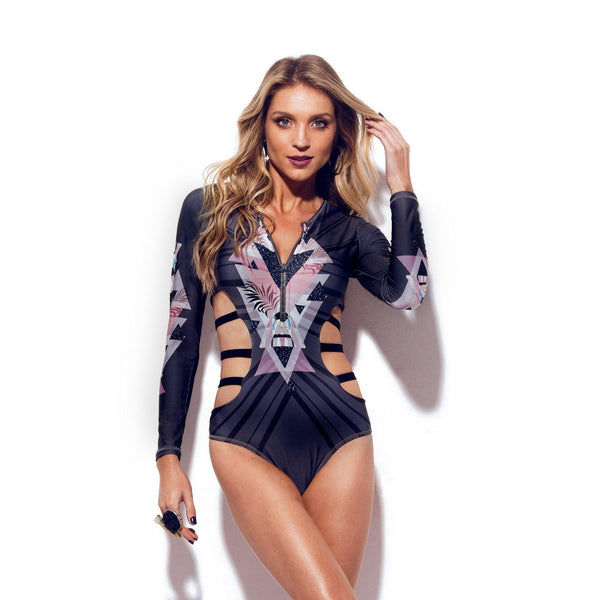 URBAN Long Sleeve One-Piece Swimsuit-Brazilian-Swimwear-VOLP