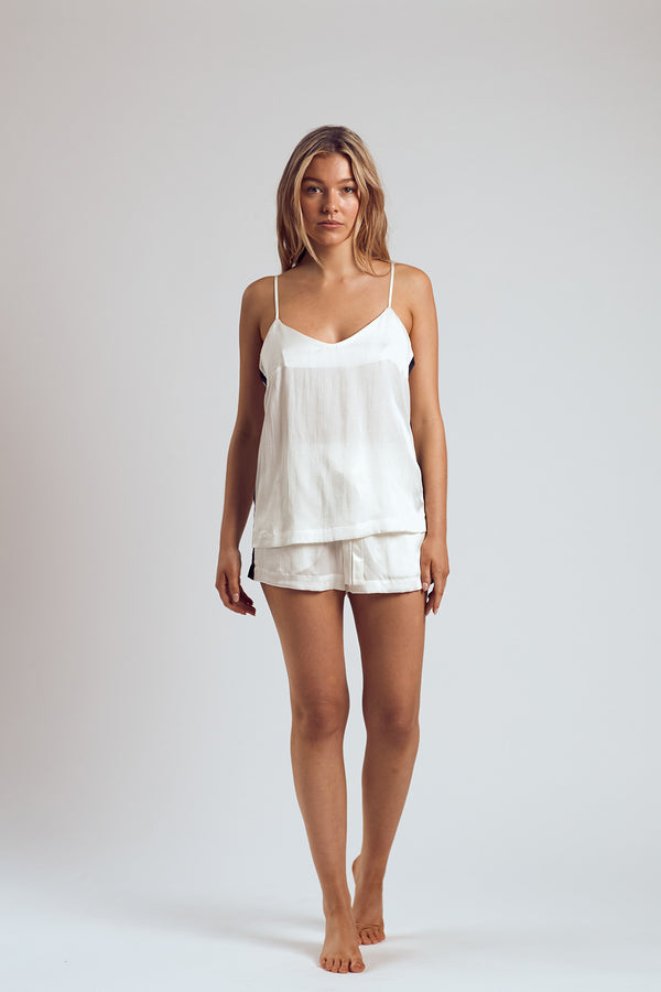 The White Russian Silk Cami