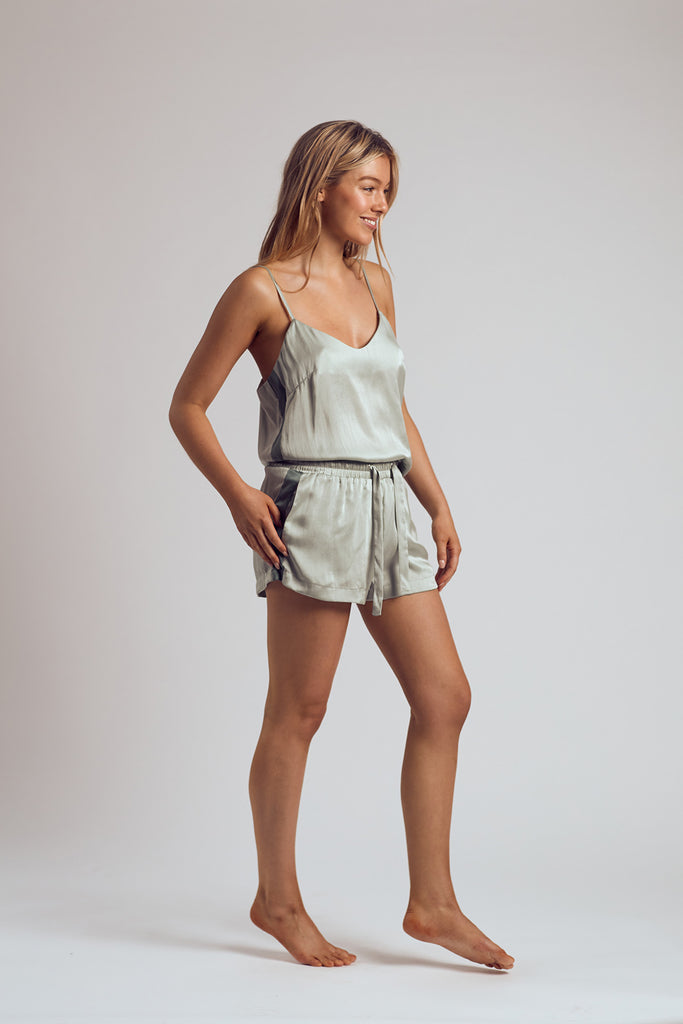 The Chartreuse Silk Shorts
