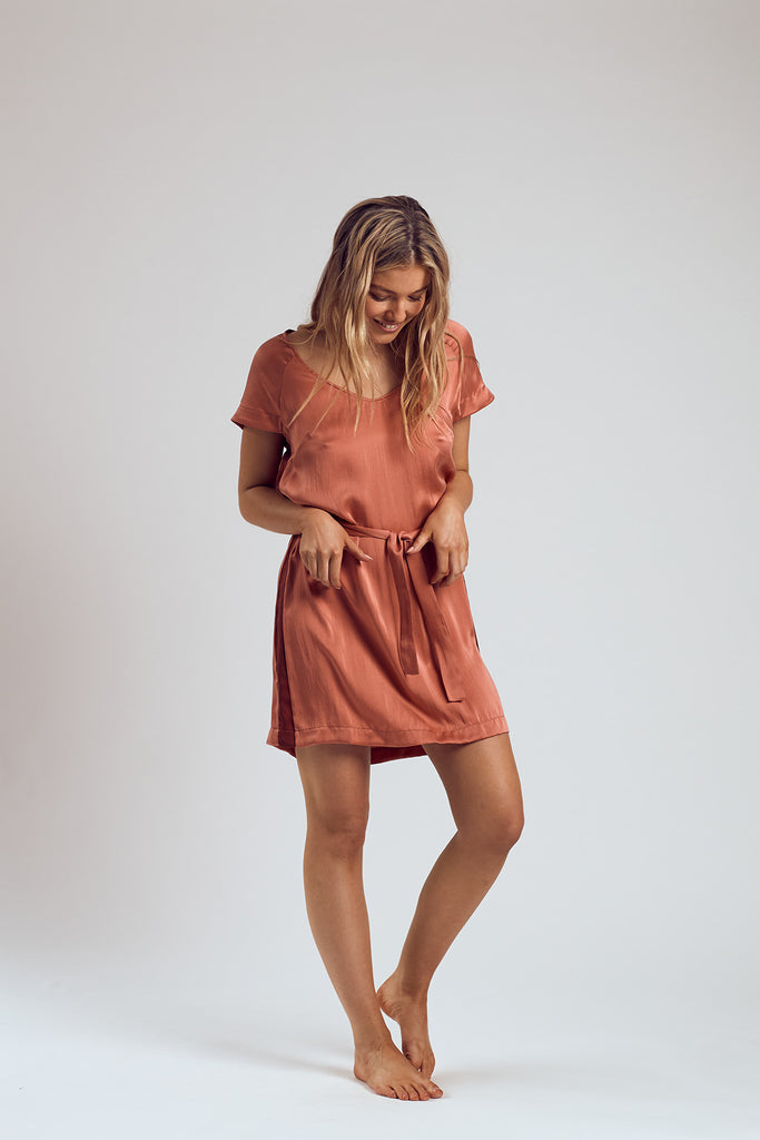 The Rosé Silk Dress