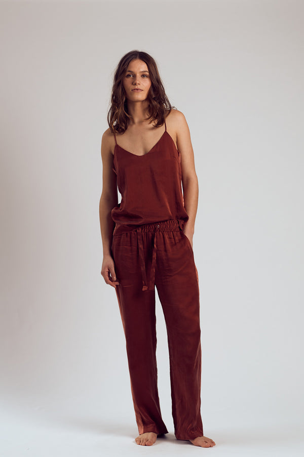 The Merlot Silk Pants