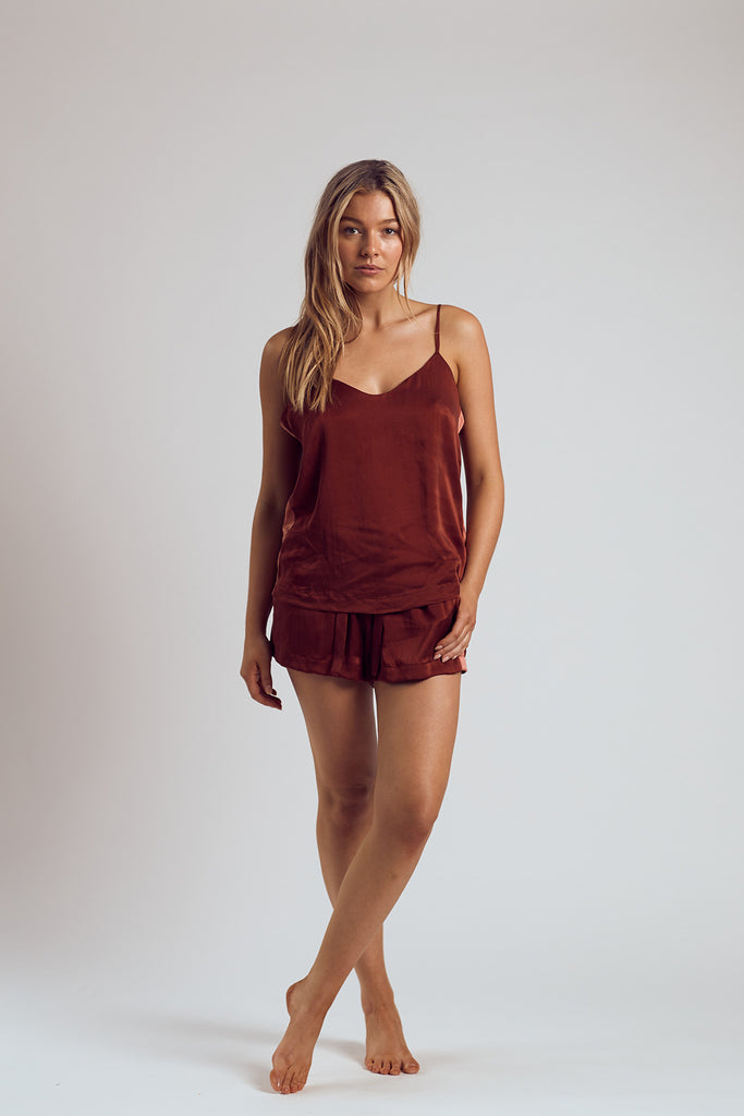 The Merlot Silk Cami