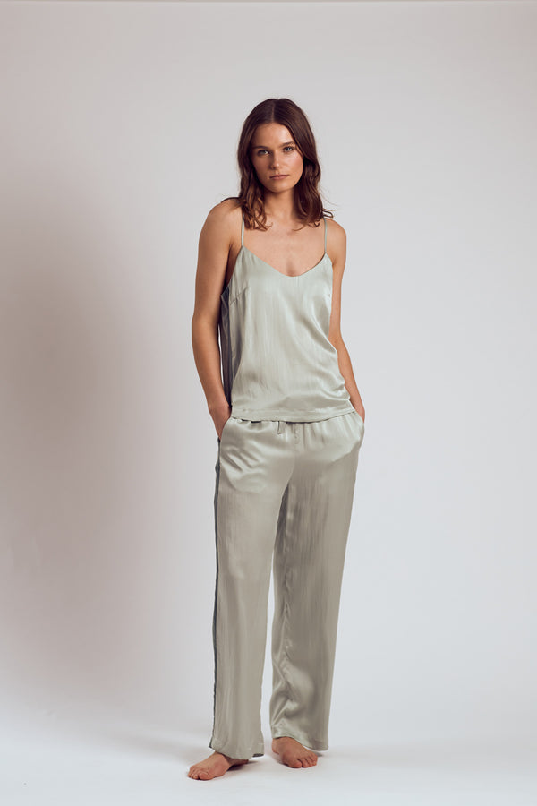 The Chartreuse Silk Pants