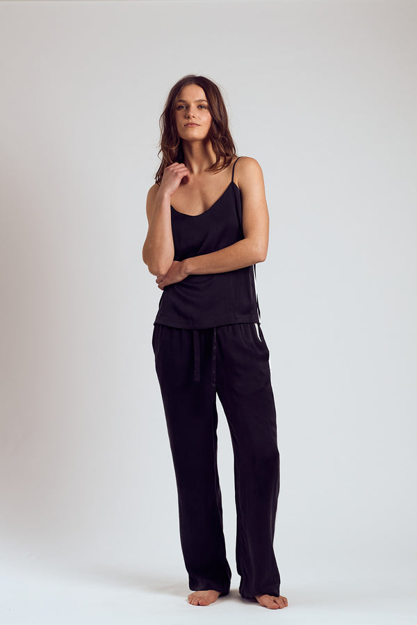 The Black Sambuca Silk Pants